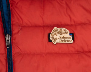 Salmon Defense Logo Pin